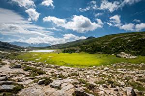 Fotos Frankreich Gebirge Landschaftsfotografie Wolke Corse Natur