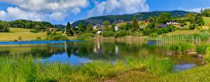 Fotos Frankreich Landschaftsfotografie Berg Panoramafotografie See Alpen La Thuile Natur