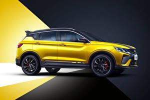 Fotos Geely Softroader Chinesisches Seitlich Gelb Metallisch Bin Yue S 'Battle' (SX11), 2021 auto