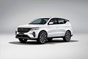 Hintergrundbilder Geely Weiß Metallisch Crossover Chinesisch Vision X6 Pro, 2021 automobil
