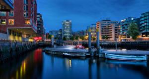 Sfondi desktop Germania Amburgo La casa Lungomare Hafencity Città