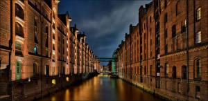 Sfondi desktop Germania Amburgo La casa Canale artificiale Wearhouse