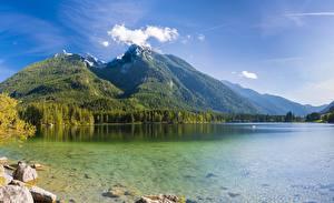 Bilder Deutschland Gebirge See Landschaftsfotografie Alpen Hintersee, Berchtesgaden National Park Natur