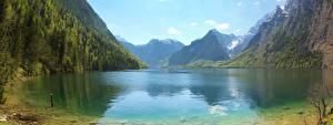 Hintergrundbilder Deutschland Gebirge See Landschaftsfotografie Panoramafotografie Bayern Alpen  Natur