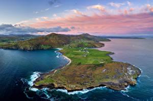 Sfondi desktop Irlanda La costa Vista dall'alto Donegal