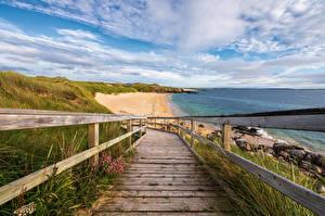 Sfondi desktop Irlanda La costa Nubi Glassagh Beach