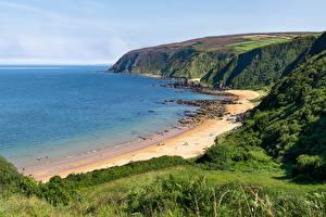 Sfondi desktop Irlanda La costa Spiaggia Kinnagoe Bay