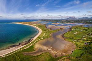 Sfondi desktop Irlanda Litorale Vista dall'alto Magheroarty Beach