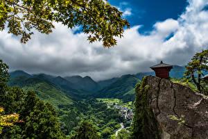 Hintergrundbilder Japan Berg Landschaftsfotografie Wolke Felsen Tohoku Natur