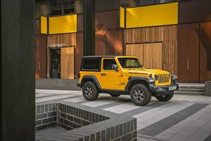 Обои Jeep SUV Желтый Металлик 2018-20 Wrangler Rubicon машины