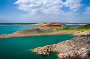 Sfondi desktop Lago Nuvole Kirov Reservoir, Kyrgyzstan