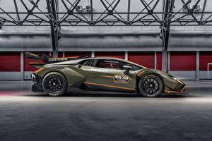 Bakgrundsbilder på skrivbordet Lamborghini Tuning Sidovy  bil