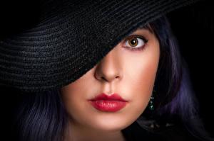Wallpapers Lips Eyes Hat Makeup Glance Face Maria, Nikolay Bobrovsky Girls
