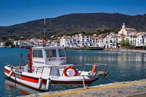 Tapety na pulpit Przystań Grecja Motorówka Elounda, Crete miasto