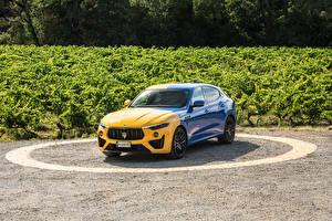 Bilder Maserati Gelb Blau Metallisch Levante GT Hybrid Fuoriserie, 2021 Autos