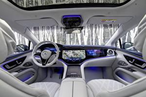 Tapety na pulpit Mercedes-Benz Salons Kierownica samochodu EQS 450 AMG Line, (Worldwide), (V297), 2021