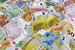 Hintergrundbilder Geld Viel Geldscheine Euro 200, 500, 50