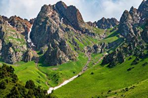 Pictures Mountains Rock Acny-Bulak, Kyrgyzstan