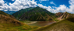 Sfondi desktop Montagna Panoramica Nuvole Kyrgyzstan Natura