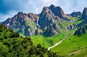 Hintergrundbilder Gebirge Landschaftsfotografie Felsen Talas, Kyrgyzstan Natur