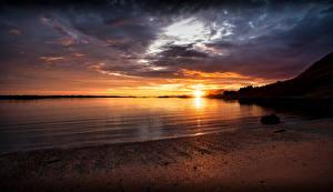 Pictures Norway Lofoten Coast Sunrise and sunset