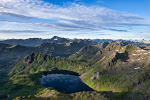 Photo Norway Mountains Lofoten Lake  Nature