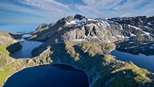 Wallpaper Norway Mountain Lofoten Lake Reine Nature