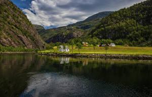 Hintergrundbilder Norwegen Gebirge Landschaftsfotografie Fluss Mostraumen