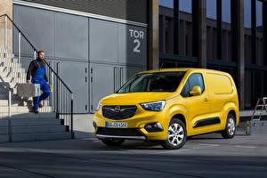 Hintergrundbilder Opel Kleintransporter Gelb Metallisch Combo-e Cargo XL, (Worldwide), 2021 Autos