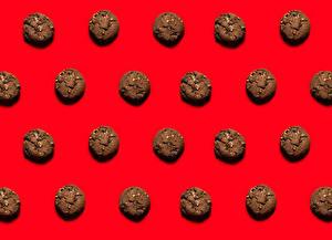 Wallpaper Baking Cookies Texture Red background