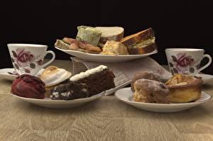 Bureaubladachtergronden Bakkerijproducten Pondcake Ontbijt Bord maaltijd Mok Beker Voedsel