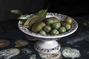 Pictures Plums Apples Vase Foliage Green