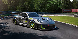 Fonds d'écran Porsche Grise 911 GT2 RS Clubsport 25 (991), 2022 Voitures