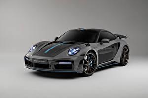Fonds d'écran Porsche Grise 911 Turbo S Stinger GTR 3.0, 2021 voiture