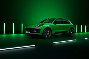 Tapety na pulpit Porsche Zielony Metaliczna Macan GTS Sport Package, (Worldwide), (95B), 2021 samochód