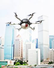 Bakgrundsbilder på skrivbordet Quadrocopter Drönare Flygning Videokamera Luftfart