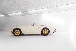 Fotos Antik Cabriolet Seitlich Weiß Metallisch 1958 Austin Healey 100-6 Goldie auto