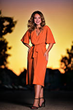 Images Pose Frock Smile Staring Selina young woman