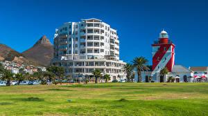 Fotos Südafrika Leuchtturm Haus Green Point Lighthouse, Cape Town Natur