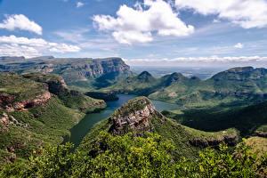 Bilder Südafrika Berg Landschaftsfotografie Flusse Canyons Wolke Blyde River Canyon Natur