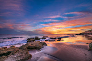 Image Spain Coast Sunrises and sunsets Stone Andalusia