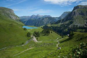 Bilder Schweiz Gebirge See Alpen Muotathal Natur
