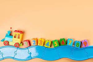 Image Toy Trains Colored background