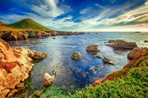 Fondos de escritorio Estados Unidos Costa California Big Sur Naturaleza