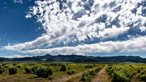 Bureaubladachtergronden Verenigde staten Agrarische velden Hemelgewelf Wolken Panguitch