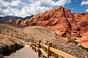 Fondos de escritorio EE.UU. Montañas Acantilado Nube Red Rock Canyon, Nevada
