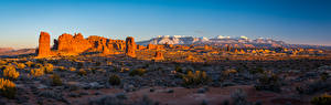 Wallpapers USA Panorama Scenery Parks Crag Arches National Park, Utah Nature pictures images
