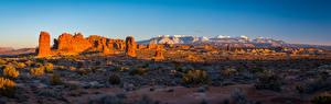 Sfondi desktop Stati uniti Panorama Paesaggio Parco Il dirupo Arches National Park, Utah Natura