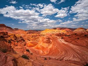 Wallpapers USA Canyons Crag Clouds Pariah Marble Canyon, Arizona Nature