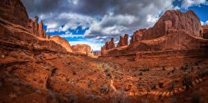 Hintergrundbilder Vereinigte Staaten Park Felsen Wolke Arches National Park Natur